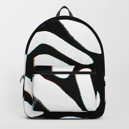 winter tree black and white abstract painting Backpack