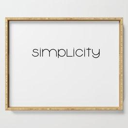 simplicity (black) minimal T-shirt Serving Tray