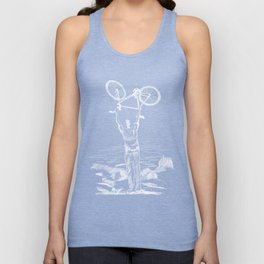 Bike Contemplation Unisex Tank Top
