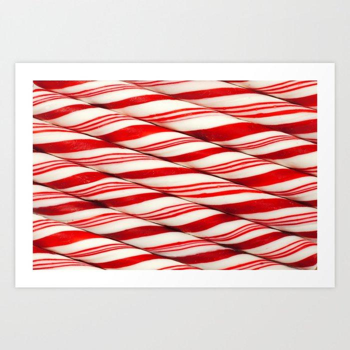 Candy Cane Pattern Art Print