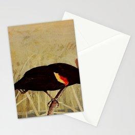 Neltje Blanchan - Bird Neighbours (1903) - Red-Winged Blackbird Stationery Cards