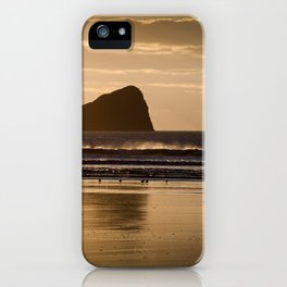 Rhossili beach and Worms Head iPhone Case