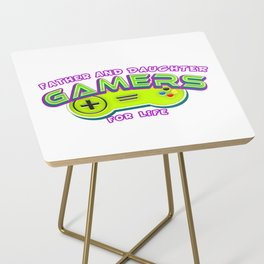 Father and Daughter Gamers For Life Side Table