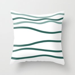 sea is blue Throw Pillow