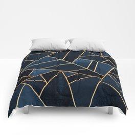 Navy Stone Comforters