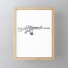 """""""Come and Take It"""" tee design. Makes a unique gift for gun lovers out there! Come one grab it now!   Framed Mini Art Print"""