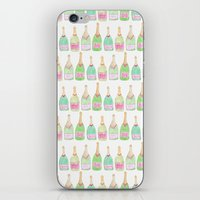 champagne iPhone & iPod Skins featuring Champagne by Abby Galloway