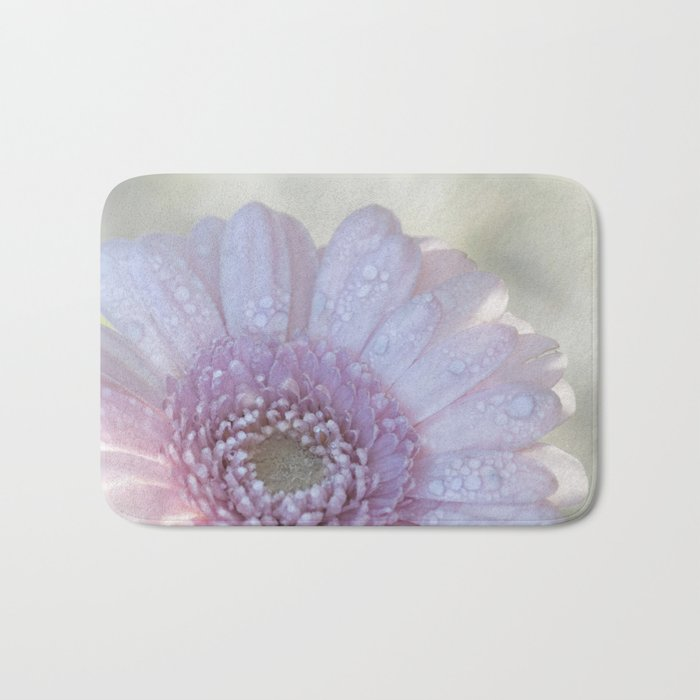 Pink Daisy with Waterdroplets in Backlight- Flower- Flowers- Floral Bath Mat
