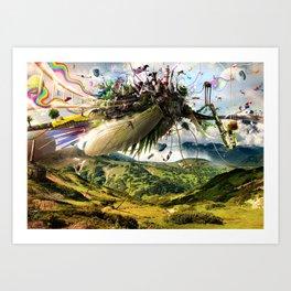 Fleeing Creativity (surreal) Art Print