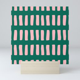 Handrawn Boho Rectangles No 03 Mini Art Print