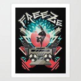 FREEZE (black) Art Print