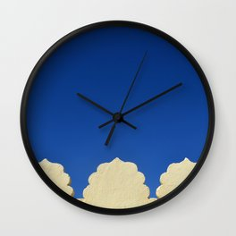 darkblue sky Wall Clock