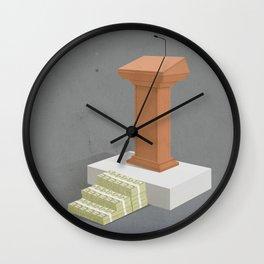Politics and Corruption Wall Clock