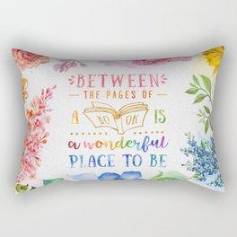 Between the pages Rectangular Pillow