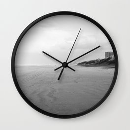 Fine art seaside northsea belgium oostduinkerke Wall Clock