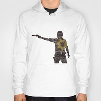 rick grimes Hoodies featuring Rick Grimes with Quotes by rlc82