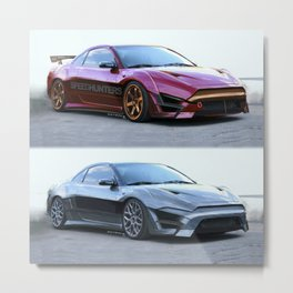 Mitsubishi Eclipse Artrace custom. Metal Print