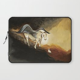 Winged horse with seagull - Silver Stream Children's Book illustration Laptop Sleeve
