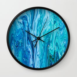 436 - Abstract water design Wall Clock