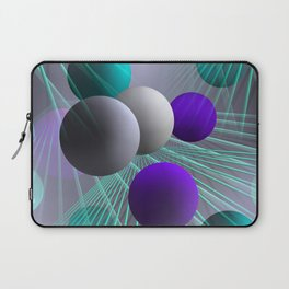 crazy lines and balls -2- Laptop Sleeve