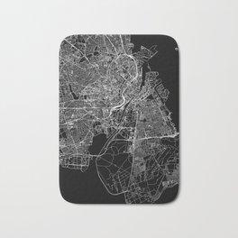 Copenhagen Black Map Bath Mat