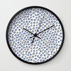 Blue and Grey Apples Wall Clock