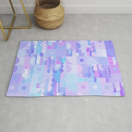 Funky Pastel Shapes Rug