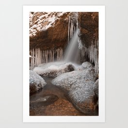 Stream of Frozen Hope Art Print