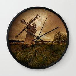 Thurne Wind Pump Wall Clock