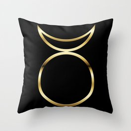 Horned God Symbol Throw Pillow