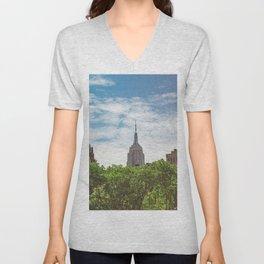 Color Empire State Building Unisex V-Neck