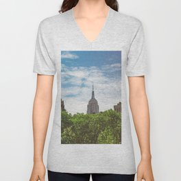 Color Empire State Building Unisex V-Neck