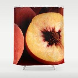 Autumn Red Peaches Shower Curtain
