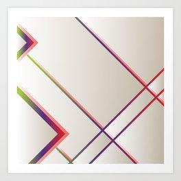 Rainbow Grids Art Print