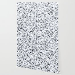Grey Watercolour Terrazzo Wallpaper