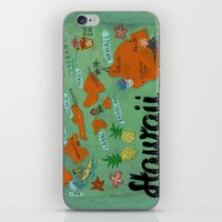 hawaii iPhone & iPod Skins featuring HAWAII by Christiane Engel