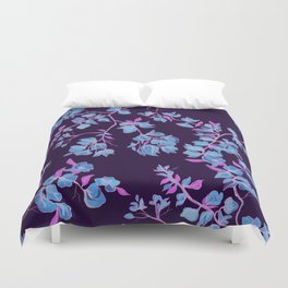 Bougainvillea casa Blue Duvet Cover