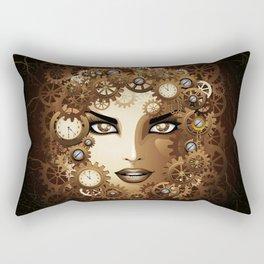 Steampunk Girl Portrait  Rectangular Pillow