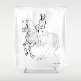Horse (Canter Pirouette) Shower Curtain