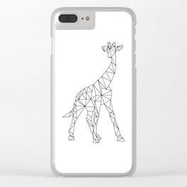 Geometric Giraffe Clear iPhone Case