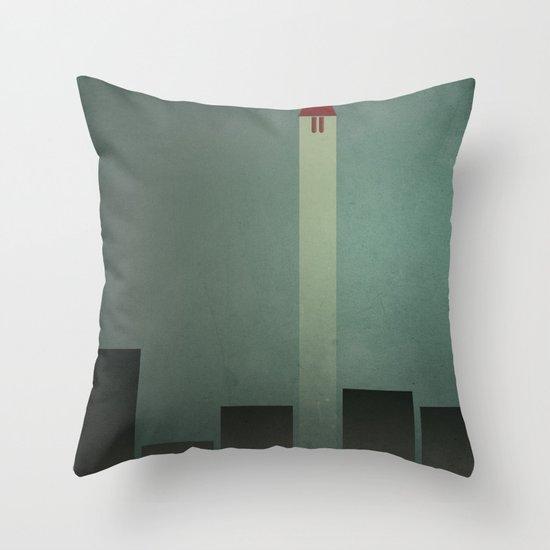Smooth Minimal - Flying man Throw Pillow