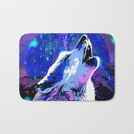 WOLF MOON AND SHOOTING STARS Bath Mat