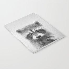 Raccoon - Black & White Notebook