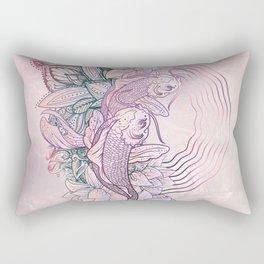 Koi Fish Mandala Rectangular Pillow