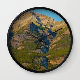 Evening light on Mt. Kerkeslin in Jasper National Park Wall Clock