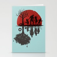 family Stationery Cards featuring A Family Once by Jay Fleck