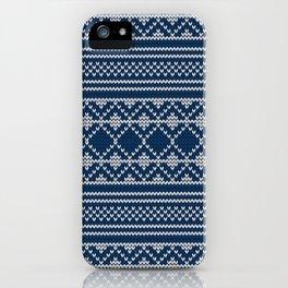 Scandinavian knitted pattern iPhone Case