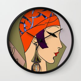 Vogue Vintage 1930 Flapper Print Wall Clock