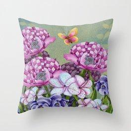 Fanciful Garden Throw Pillow