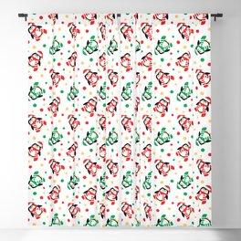 Christmas Penguins and Polka Dots Blackout Curtain